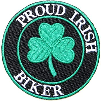 Proud Irish Biker Celtic Irish Four Leaf Clover Good Luck Symbol