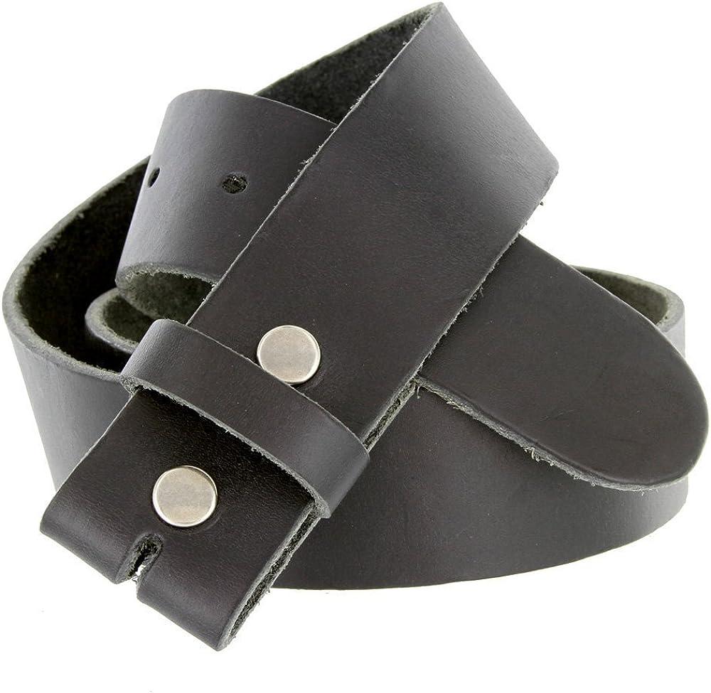 Hagora Men 1-1//2 Wide Full Grain Cowhide Raw Edges Snap System Belt Strap