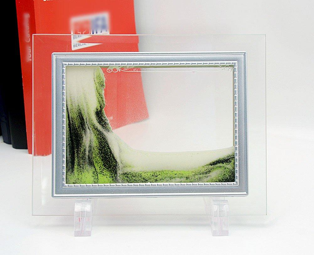 PROW® Dynamisch Sand Glas Rahmen, 5 Zoll Grün Fließendes Sand Bild ...
