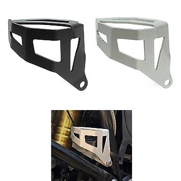 Motocicleta Aluminio Dep/ósito de l/íquido de frenos trasero protector Cover para 2013 /& up BMW R1200GS R 1200 GS Adv aventura refrigerado por agua Modelo 2014 2015 2016 13 14 15 16