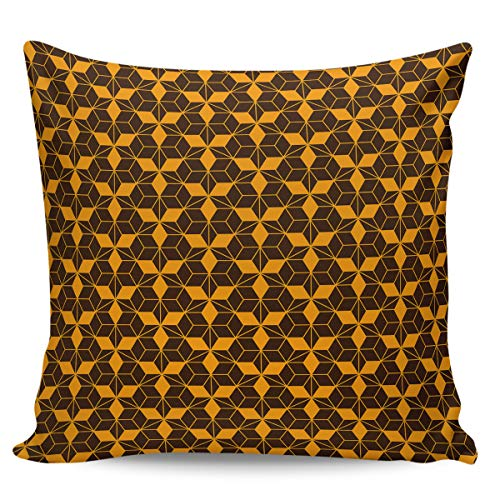 Square Decorative Throw Cushion Cover Pillowcase with Hidden Zipper for Sofa Car Couch Living Room Minimalistic Abstract Geometric Art Pattern 16