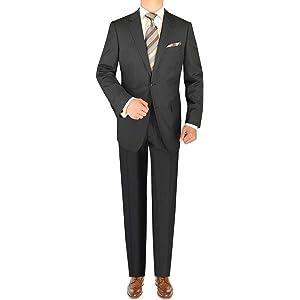 8f5431b7a47e7f LN LUCIANO NATAZZI Italian Men's Suit 160'S Canali Cashmere Wool 2 Button  Stripe