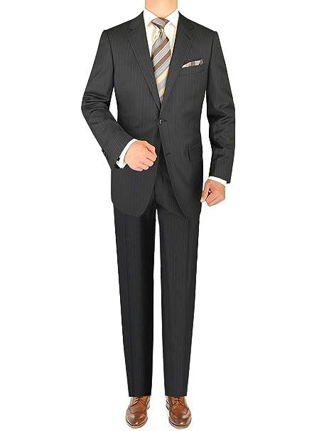 Amazon.com: Luciano natazzi traje de rayas de dos botón 160 ...