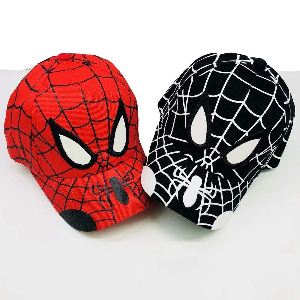 JCBD-hat Spiderman Cartoon Children Embroidery Cotton Baseball Cap Kids Boy Girl Hip Hop Hat Spiderman Cosplay Hat