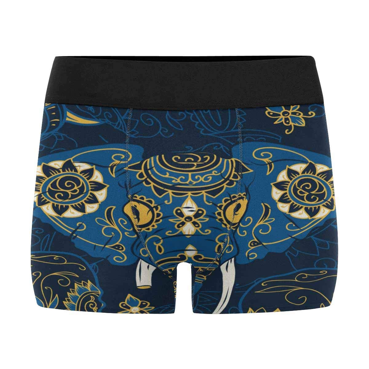 INTERESTPRINT Mens Boxer Briefs Day of The Dead Indian Elephant XS-3XL