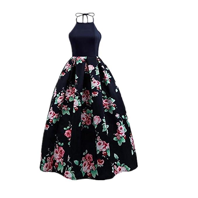 Vestido de verano de mujer, Dragon868 2018 nuevo estilo de las mujeres flores sin mangas de playa vestido largo para la fiesta: Amazon.es: Ropa y accesorios