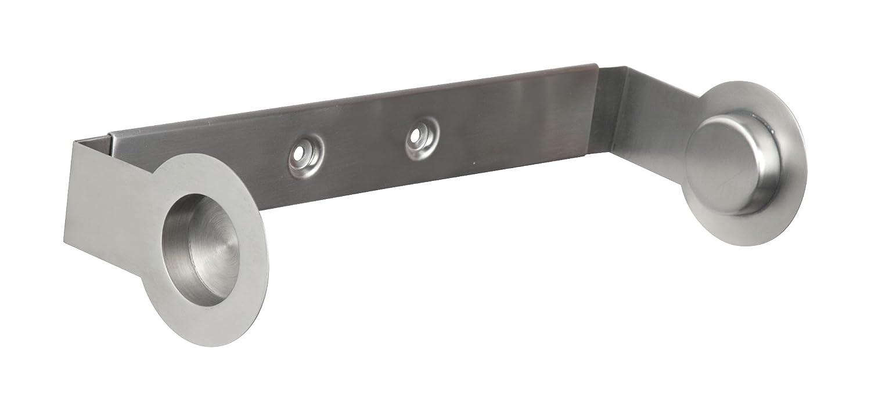 Wenko Cerri - Portarrollos de papel de cocina, de acero fino inoxidable, 21 x 9 x 6 cm, aspecto mate opaco: Amazon.es: Hogar