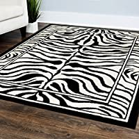 Home Dynamix Zone Sabra 21x35 Area Rug in Black