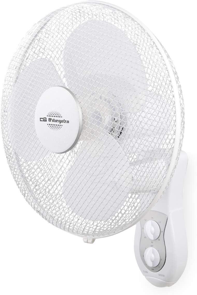 Orbegozo WF0139 Ventilador de pared, 45 W, 3 Velocidades, Color blanco