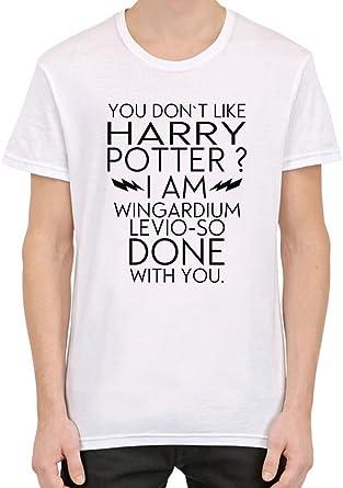 I Dont Like Harry Potter Funny Slogan Camiseta personalizada impresa para hombres | Algodón 100% superior peinado / anillado | Camiseta con estilo de calidad superior XX-Large: Amazon.es: Ropa y accesorios