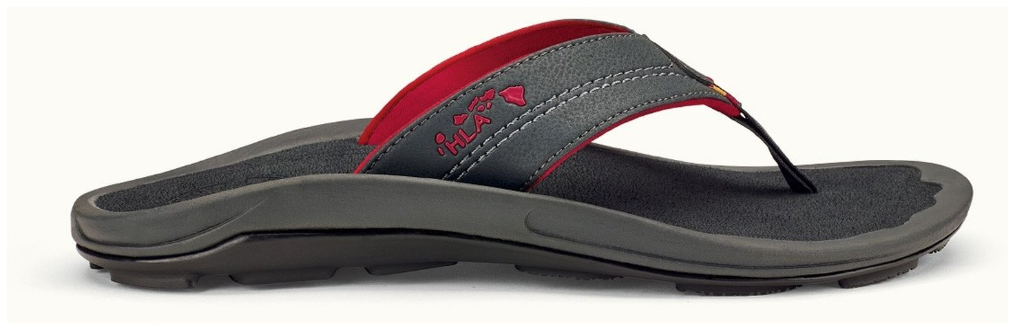 OLUKAI Kipi Slippers - Men's Dark Shawdow/Dark Shadow 11