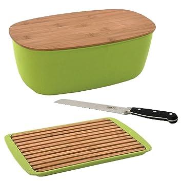 BergHOFF Cook \'n Co 5-tlg. Brotset Schneidebrett Brotkasten Messer ...