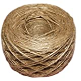 50 Meter - Colorful Textured Hessian Jute Twine String 2 mm 1-Ply - for Rustic Shabby Chic Wedding Card ,Gift Wrapping Decoration,Price Tag, DIY Craft Scrapbooking, Floristry