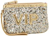 Nine West Textimization VIP Wristlet,Gold/Grey/Bright Gold,One Size, Bags Central
