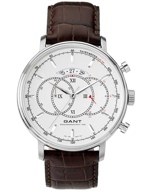 GANT Herren-Armbanduhr XL Analog Quarz Leder W10892