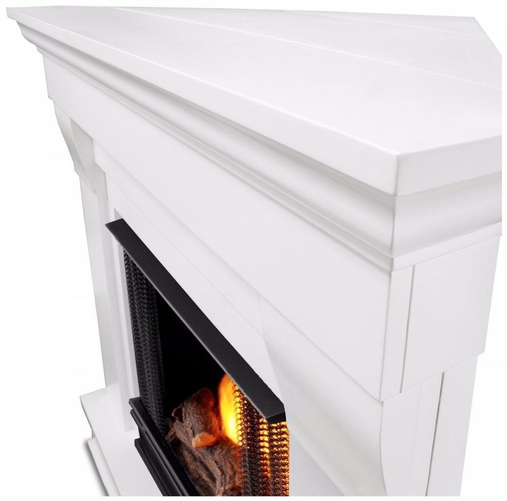 amazon com chateau corner gel fireplace in white home u0026 kitchen