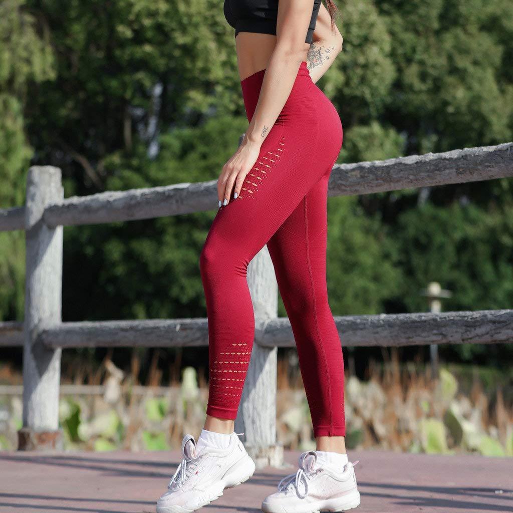 Pantal/ón El/ásticos Pantalones para Mujer Cintura Alta Pantalones de Yoga Manadlian Mallas Deportivas de Correr Gimnasio Estiramiento Fitness el/ásticos Pantalones de cadera