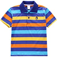 Timall Baby Kids T-Shirt Collar Boys Girls Short Sleeve Striped Polo T-Shirt Summer Clothing Tops 2-6 Y