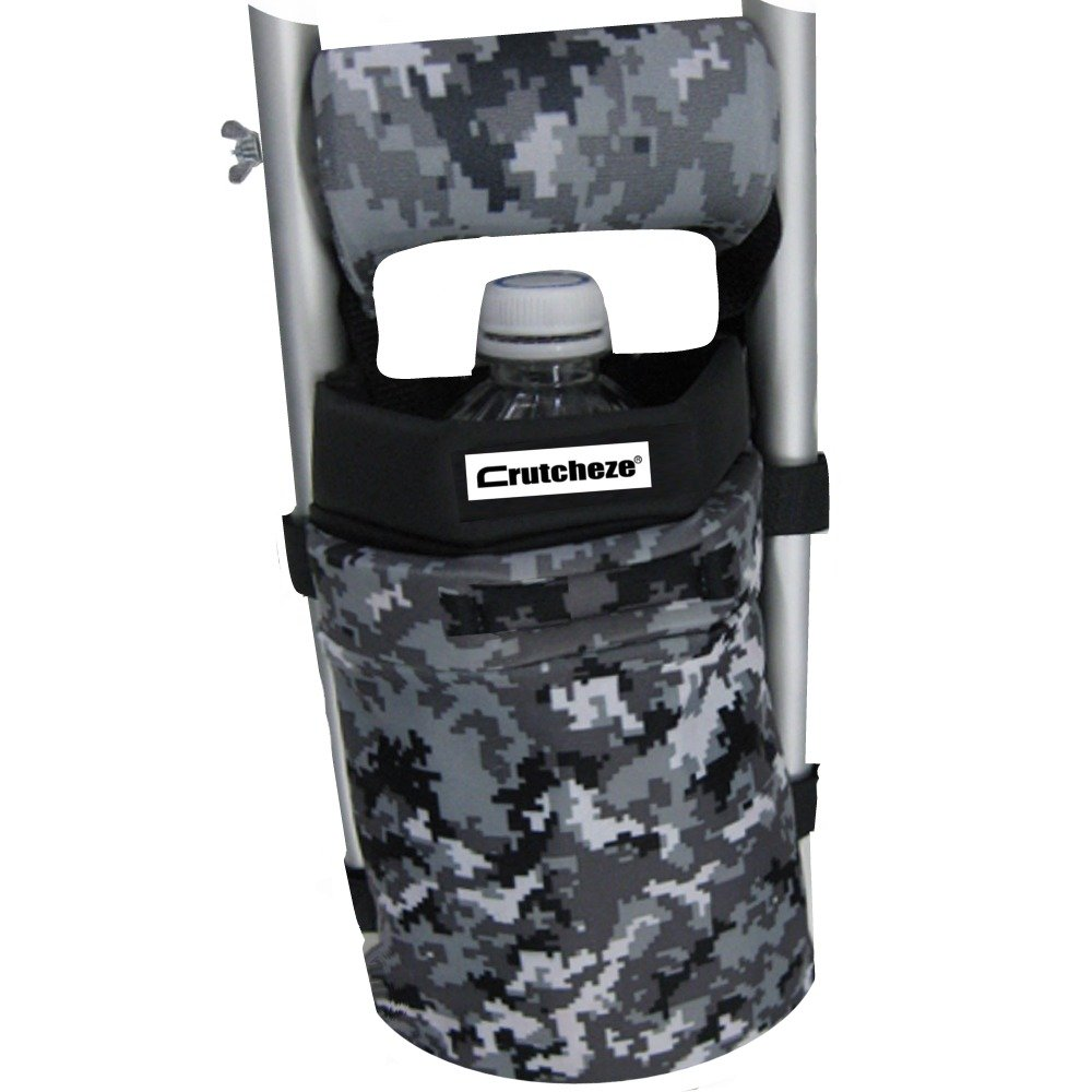Crutcheze Digital Snow Camo Crutch Bag, Pouch, Pocket, Tote Washable Designer Fashion Orthopedic Products Accessories
