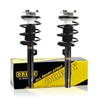 OREDY Shocks Struts 2PCS Front Struts Coil Spring Suspension Struts Assembly 171581 171582 11372 11371 Compatible with 320i 325i 330i 2001 2002 2003 2004 2005 325Ci 330Ci 01-06 323i 328i 1999 2000