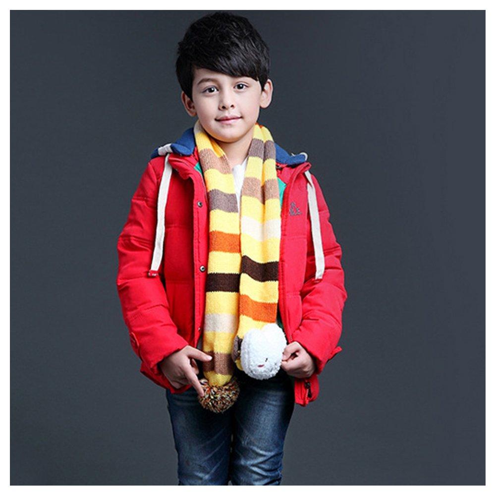 JINZFJG Kids Boys Down Hooded Jacket Winter Warm Outwear Parka Coats