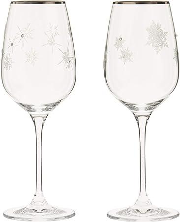 NARUMI(ナルミ)ペアワイングラスグラスワークススノー&スター340cc2客セットGW4065-63393A