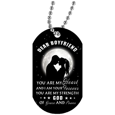 EConvenience Store You Are My Heart Dog Tag Necklace For Men