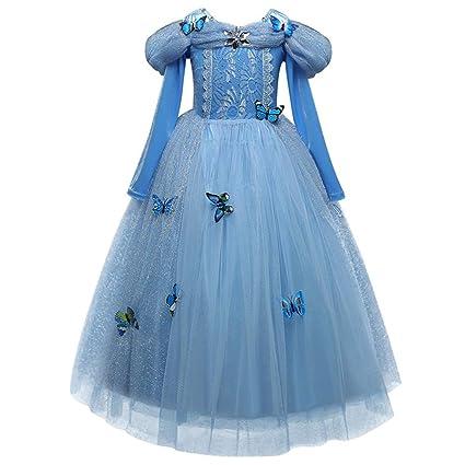 MiKia Disfraz De Princesa Aurora, Traje De Cosplay De Copo ...