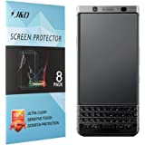 [8 Pack] BlackBerry KEYone Screen Protector, J&D [Anti-Glare] [Anti-Fingerprint] Premium Matte Film Shield Screen Protector for BlackBerry KEYone