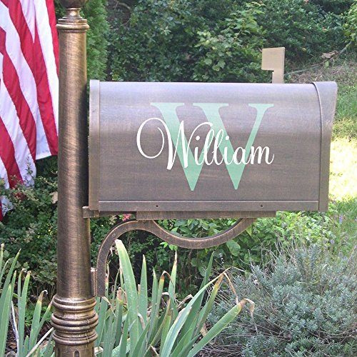 Mailbox Decals Decorative Personalized Last Name and Initials Maibox Numbers Stickers Removable