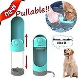 Jresboen 300ml Bottiglia d'Acqua per Cani, [Innovazione] Pullable Bottiglia Viaggio Cani Portatile Bottiglia Acqua per Cani, Distributore Acqua Cani da Viaggio, Sicurezza Dog Water Bottle Cane Gatti