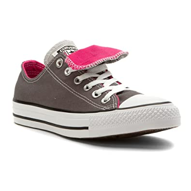 converse double tongue grey pink femmess chaussure