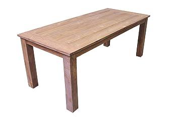 Teakholz Tisch Garten.Amazon De Teak Gartentisch Tuin In 6 Größen Erhältlich