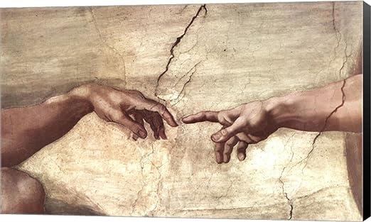 the creation of adam hands