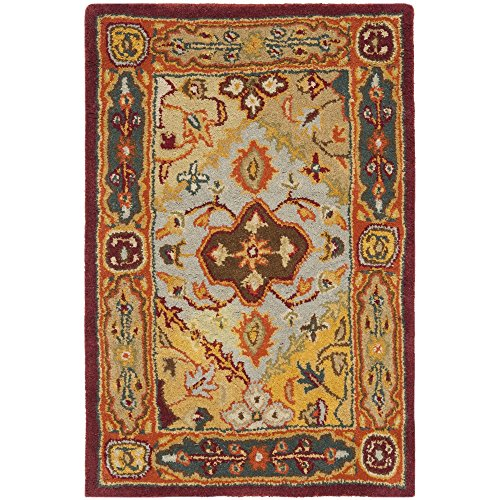 (Safavieh Heritage Collection HG512A Handcrafted Traditional Oriental Multicolored Wool Area Rug (2' x 3'))
