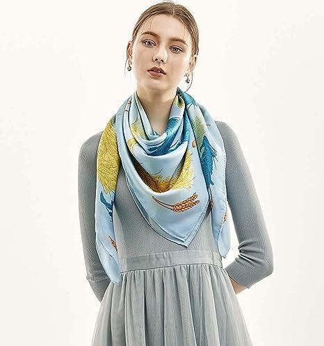 design di qualità per comprare prezzo ridotto ZWQ Free Sciarpa Donna Marchio Raso Grande Asciugamano Quadrato ...