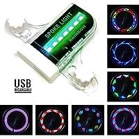 Luz LED para Llanta de Bicicleta Recargable USB Impermeable
