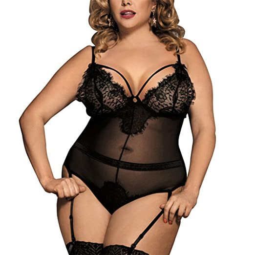 131ac29c32 Amazon.com  Mose Womens Plus Size Lingerie