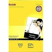 KODAK High Glossy Ultra Premium Photo Paper 4 x 6 Inches - 280 gsm (100 Sheets)