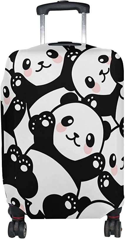 Cooper girl Love Panda Pink Travel Luggage Cover Suitcase Protector Fits 31-32 Inch