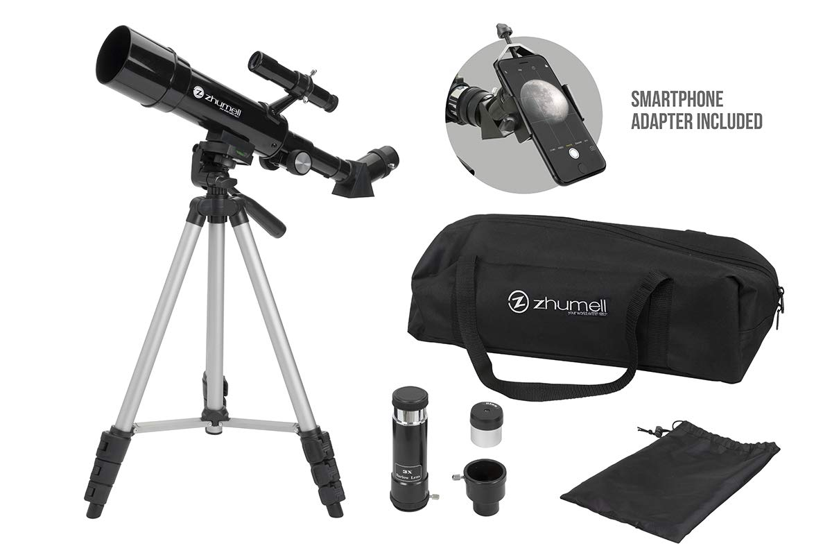 Zhumell Z50 Portable Refractor with Tripod, Phone Adapter & Carry Bag by Zhumell