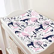 Carousel Designs Gray Woodland Animals Changing Pad Cover - Organic 100% Cotton Change Pad Cover - Made in the USA