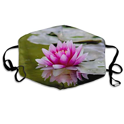 Amazoncom Cfecup Mouth Mask Lotus Flower Anti Dust Polyester Face