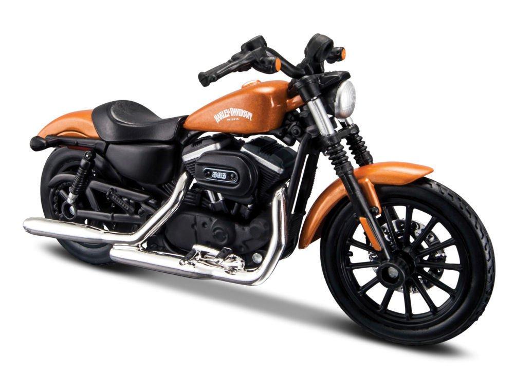 Arancione Maisto 34360-34 2014 Harley Davidson Sportster Iron 883 1:18 Die Cast