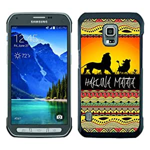 Samsung Galaxy S5 Active Case ,Hot Sale And Popular Designed Samsung Galaxy S5 Active Case With hakuna matata 1 Black Hight Quality Cover