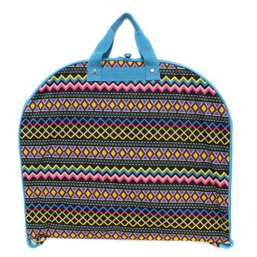 [luggage garment bag Aztec multi turquoise trim] (Theatre Costume Closet)
