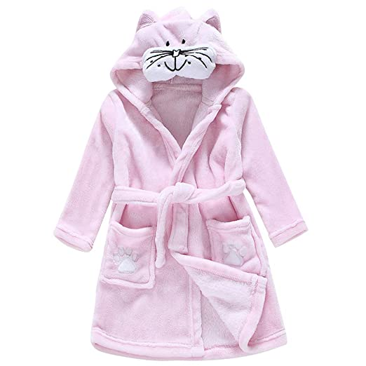 Image Unavailable. Image not available for. Color  Kids Bathrobe Hooded  Sleepwear Baby Nightgown Pajamas Children Nightdress Animal a78508c00