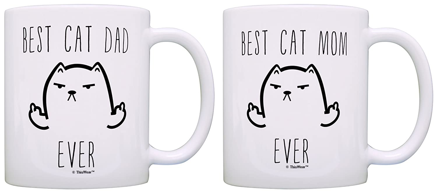 Funny Cat Mug Best Cat Dad Ever Cat Gag Gifts Gift 15-oz Coffee Mug Tea Cup 15oz Dad A-P-S-15M-2180-01
