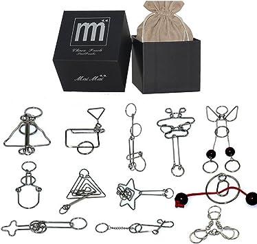 Rompecabezas Metal , FOKOM 12Pack Puzzles 3D Juegos de Ingenio Juegos de Mesa Juego IQ Juguete Educativos Habilidad Juego Logica Calendario de Adviento para Niños y Adultos: Amazon.es: Juguetes y juegos