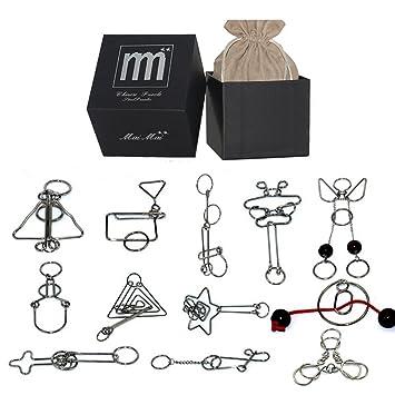 Rompecabezas Metal Fokom 12pack Puzzles 3d Juegos De Ingenio